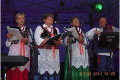 W zespole ludowym Boratynki, Dożynki w Tyńcu Małym 7 września 2014 r.