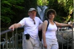 Z żoną podczas górskich wędrówek, maj 2002 r.