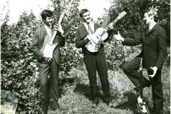 Pierwszy zespół muzyczny The Greenhorns Eugeniusz Styś, Edward Burski, Janusz Gargała